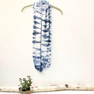 J. Jill shades of Blue Tie-Dye Infinity Scarf